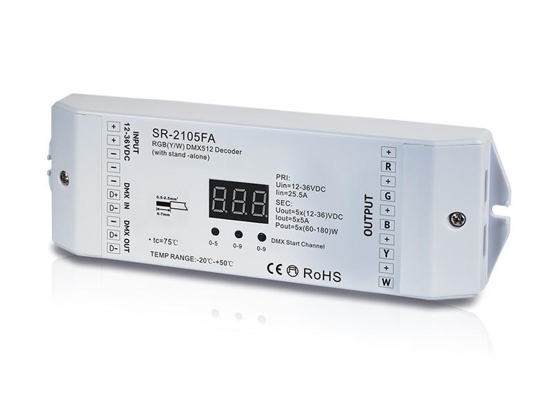 5 Channel Constant Voltage DMX512 Decoder SR-2105FA