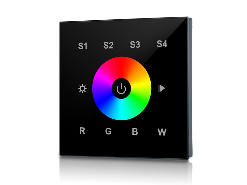 Rf Amp Wifi Rgbw Wall Mounted Touch Panel Led Controller Sr 2820b