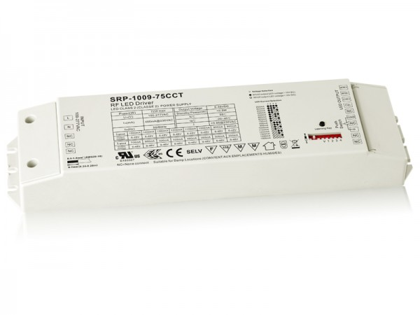75W 2 Channels Constant Current RF LED Dimmable Driver SRP-1009-75W-CCT