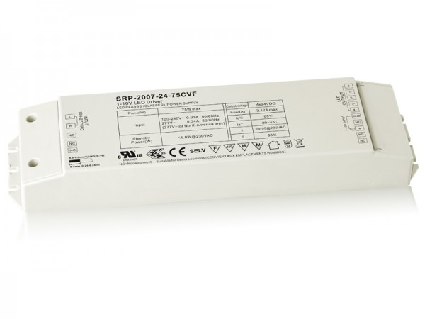 75W 4 Channels Constant Voltage RF LED Dimmable Driver SRP-1009-75W-CVF