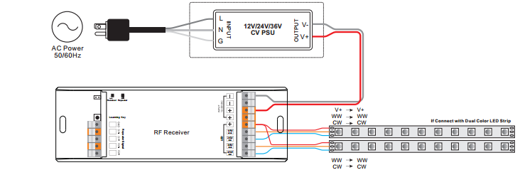 Wiring Diagram for Dual Color LEDs