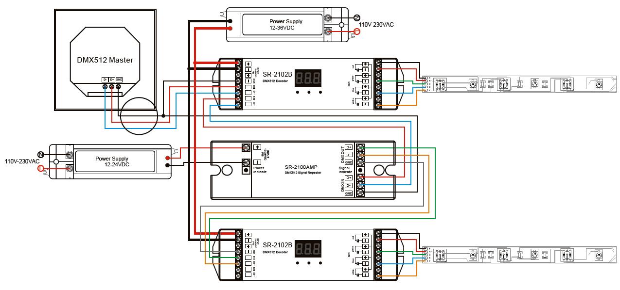 sr 2100amp wiring dmx512 signal amplifier sr 2100amp dmx512 decoder wiring diagram at aneh.co