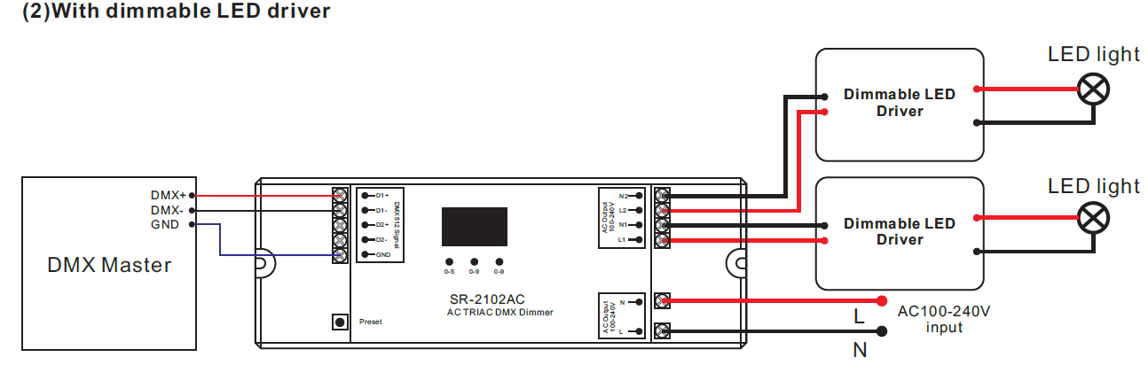 sr 2102ac wiring dimmable led driver 2 channel ac triac dmx512 dimmer sr 2102ac  at aneh.co