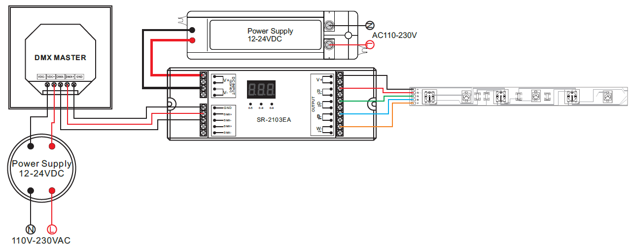 constant voltage dmx512 decoder sr