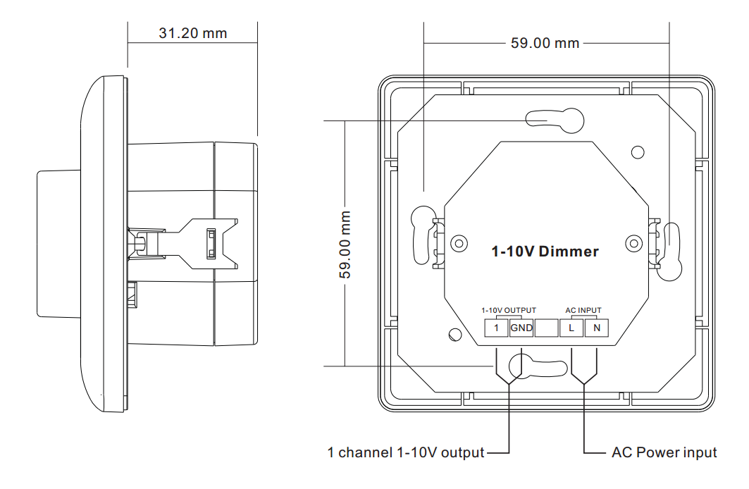 sr 2202n 1 10v size ac input 1 10v rotary dimmer sr 2202n 1 10v Light Dimmer Switch at bayanpartner.co