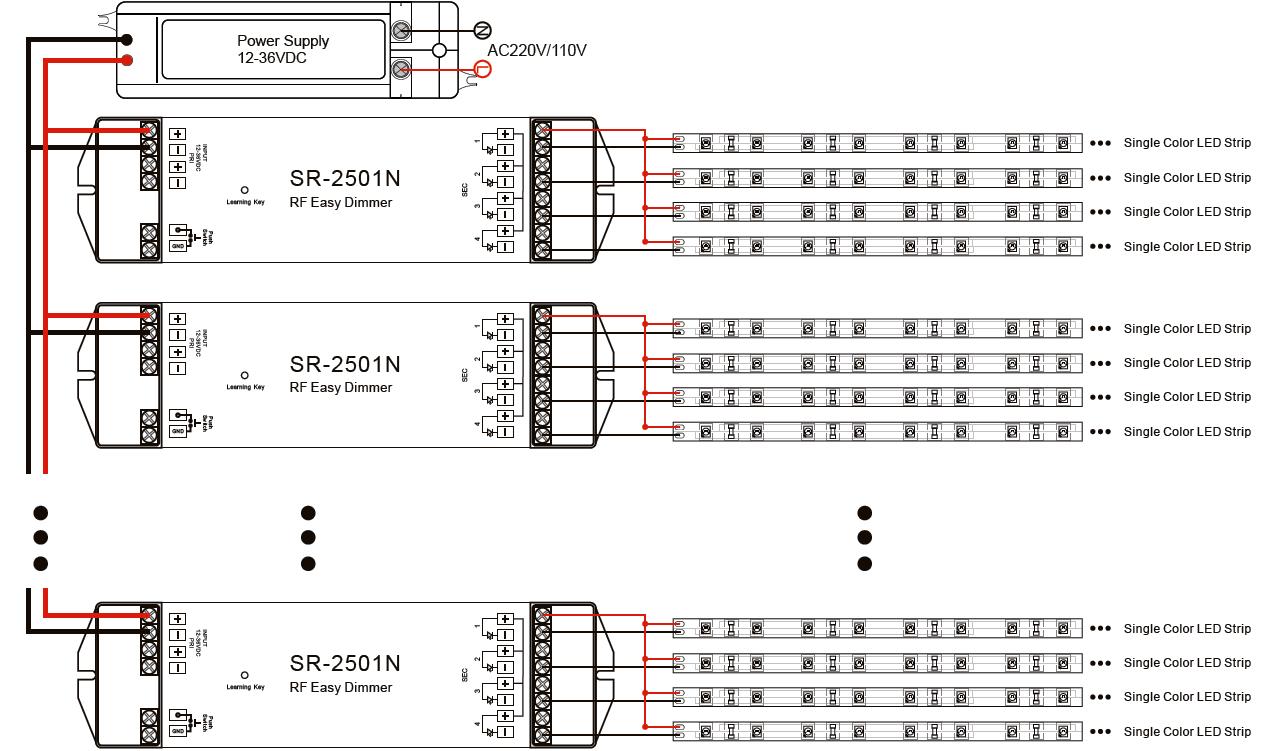 easy rf led controller sr 2802 256 levels logarithmic dimming