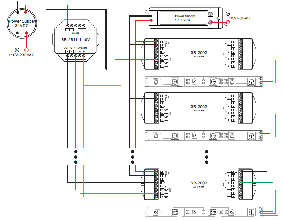sr 2811 1 10v wiring rgbw 0 10v led dimmer controller sr 2811 1 10v 0 10v dimming wiring diagram at beritabola.co