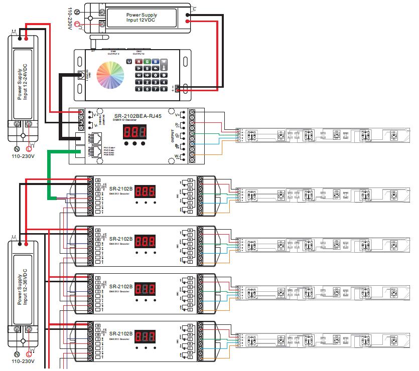 rf wifi to dmx led controller sr 2816 rh sunricher com 3-Pin DMX a Wire 3-Pin DMX a Wire