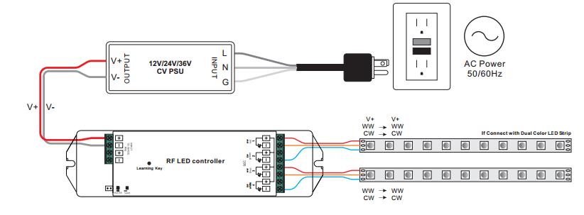 rf u0026wifi dual color led controller sr