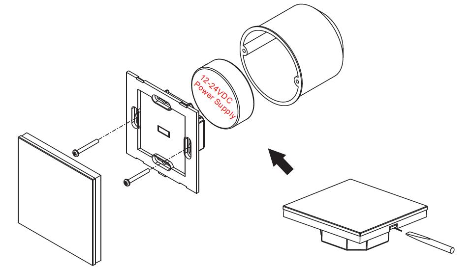 rf u0026wifi rgbw wall mounted led touch controller sr
