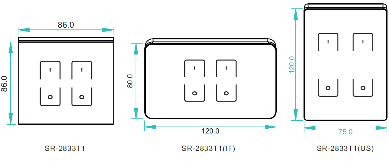 rf u0026wifi led touch dimmer sr-2833t1