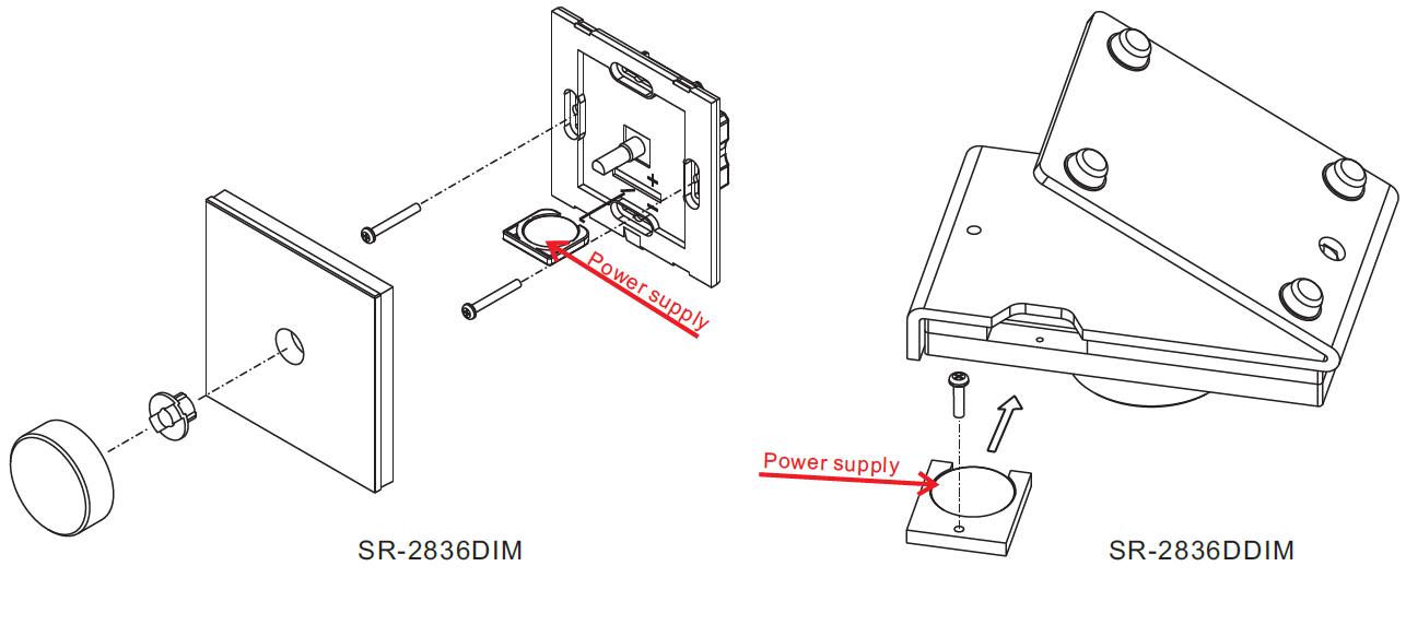 rf u0026wifi desk mount rotary led dimmer sr