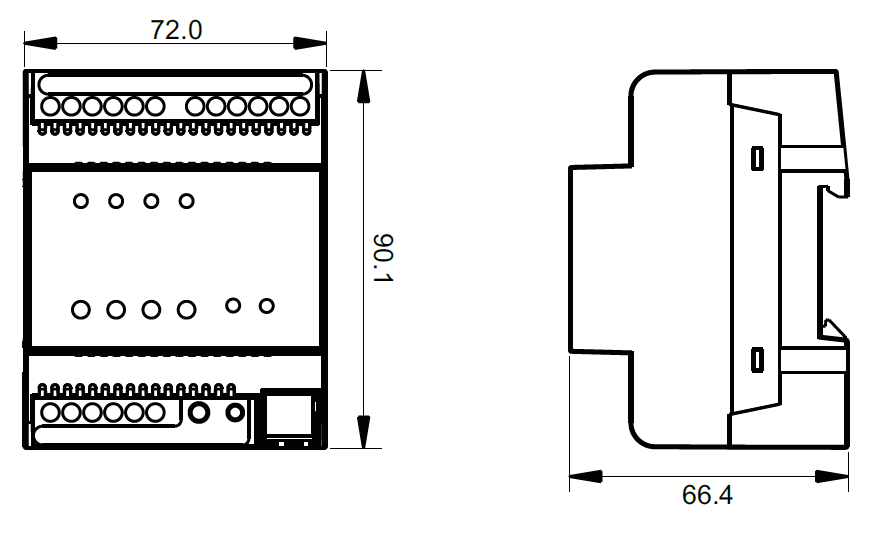 constant voltage rgbw knx controller sr knx9511fa. Black Bedroom Furniture Sets. Home Design Ideas