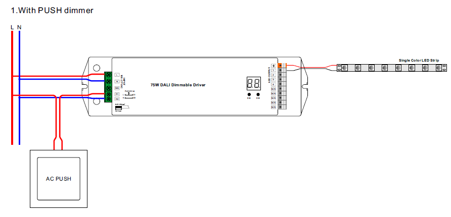 dimmable led wiring diagram dimmable lights wiring diagram 4 channels dali 75w dimmable 24v led driver srp 2305 24 #2