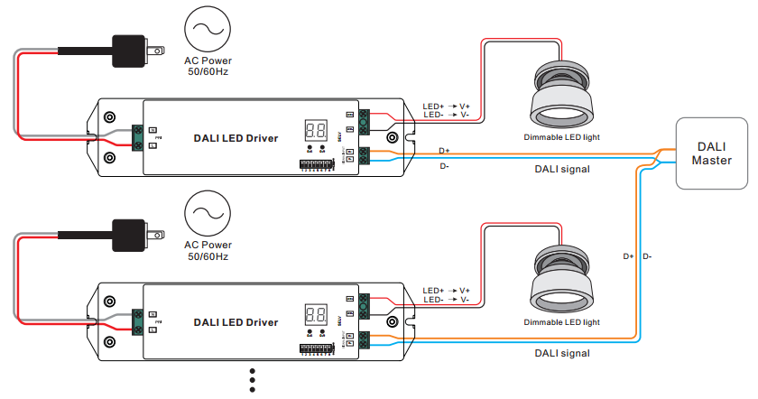 constant current dali dimming driver srp 2305 50w cc rh sunricher com Ethernet Wiring Diagram Network Wiring Diagram