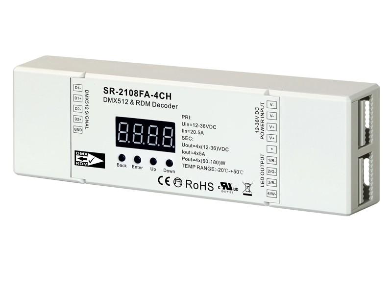 Constant Voltage 4 Channel Real 16 Bit DMX512 & RDM Controller SR