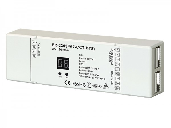 Dual Color Constant Current 700mA DT8 DALI Dimmer SR-2309FA7-CCT