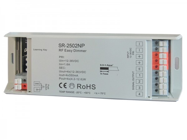 4 Channel 350mA Constant Current RF Dimmer SR-2502P