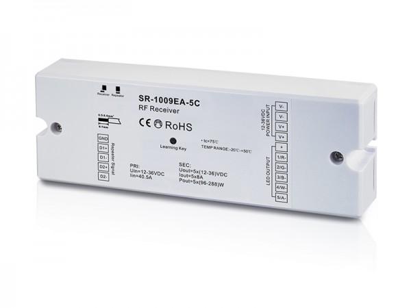 5CH 5A Constant Voltage RGB & CCT RF LED Receiver SR-1009EA-5C