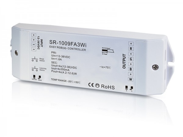 Constant Current 12-36VDC RF&WiFi RGBW Controller SR-1009FA3Wi