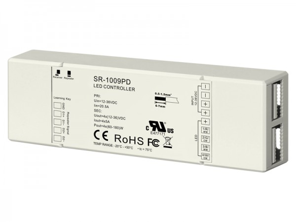 5A 4CH Constant Voltage RF LED Controller SR-1009PD