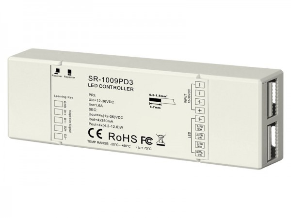 350mA 4CH Constant Current RF Controller SR-1009PD3