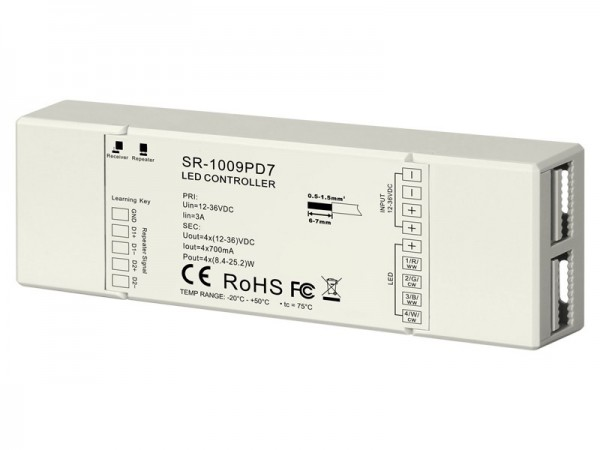 700mA 4CH Constant Current RF Controller SR-1009PD7