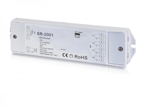 4 Channel Constant Voltage 0/1-10V LED Dimmer SR-2001