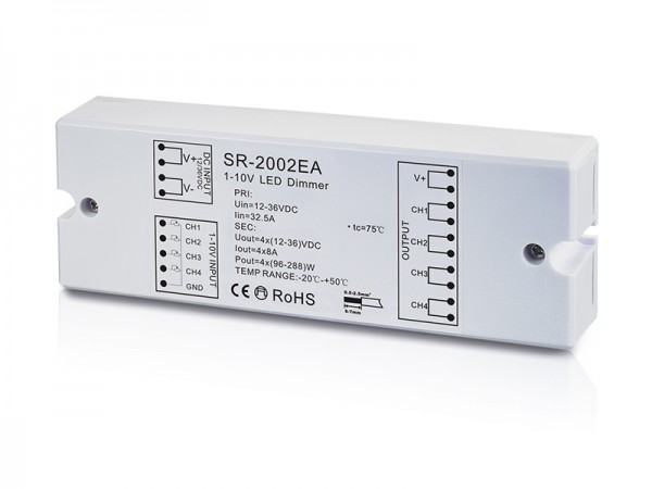 4 Channel Constant Voltge 0/1-10V Dimmer SR-2002EA