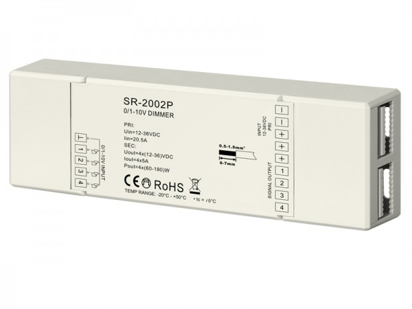 Easy Connection 0/1-10V Constant Voltage Dimmer SR-2002P