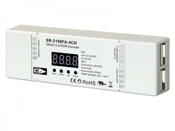 Constant Voltage 4 Channel Real 16 Bit DMX512 & RDM