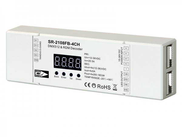 Constant Voltage 4 Channels DMX & RDM Controller With Master
