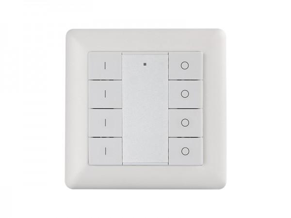 4 Zone Wall Mounted Push Button RF Dimmer Controller SR-2853K8-DIM