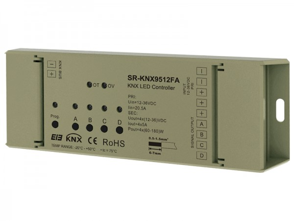 Easy Connection RGBW KNX Controller SR-KNX9512FA