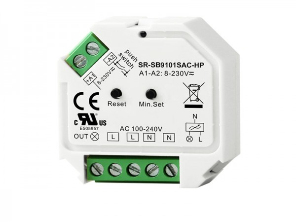 Bluetooth AC Phase Dimmer Universal Bluetooth Dimmer Switch SR-SB9101SAC-HP