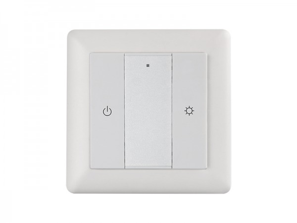 Single Color Wall Mounted Z wave Push Button Secondary Controller Light Switch SR-ZV9001K2-DIM