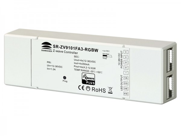 Constant Current Z-wave RGBW LED Lighting Device SR-ZV9101FA3-RGBW