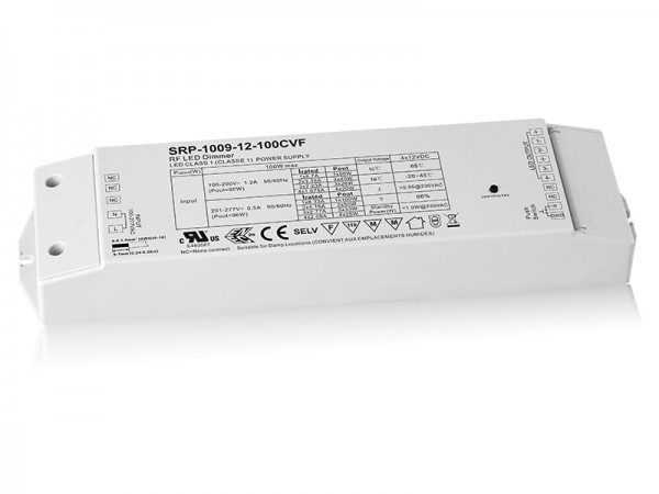 Constant Voltage 100W Dimmable PWM RGB LED Driver with RF SRP-1009-12-100W-CVF