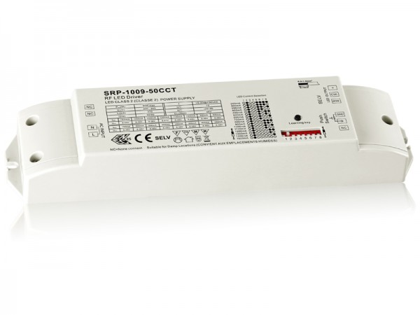 2 Channels Constant Current Dimmable 50w LED Driver with RF SRP-1009-50W-CCT