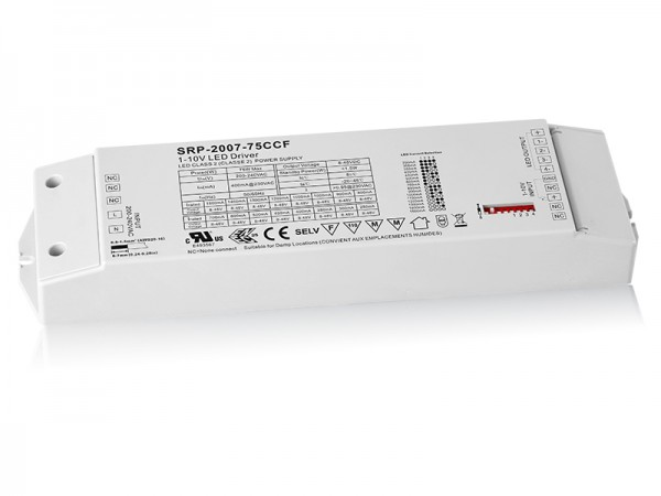 75W 4 Channels Constant Current 0/1-10V LED Driver SRP-2007-75W-CCF