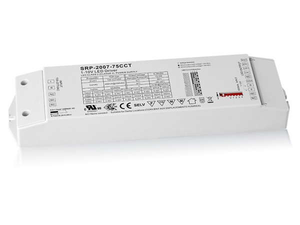 75W Constant Current 0/1-10V LED Driver For Tunable White SRP-2007-75W-CCT