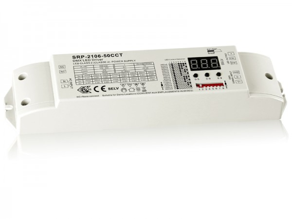 2 Channels Constant Current DMX 50W Dimmable LED Driver SRP-2106-50W-CCT