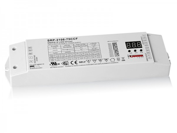 4 Channels DMX 75W Dimmable RGBW LED Driver SRP-2106-75W-CCF
