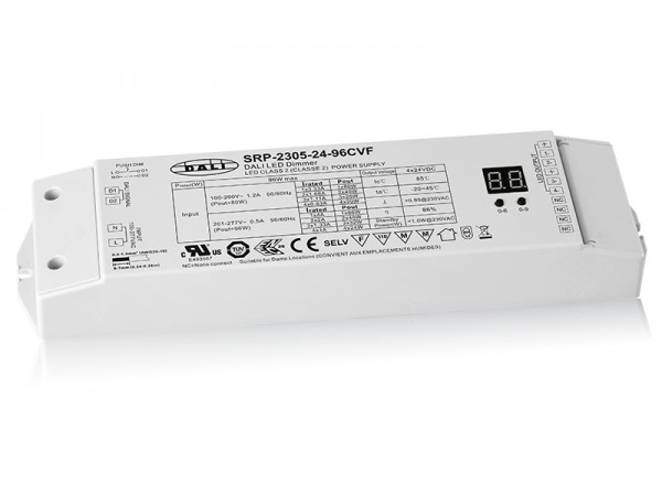 4 Channels 24VDC Constant Voltage DALI 96W Dimmable LED Driver SRP-2305-24-96W-CVF