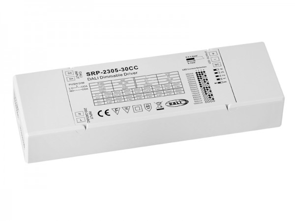 DALI-2 Certified 30W Amplitude Dimming LED Driver SRP-2309-30CCTL