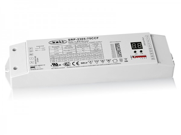 4 Channels Constant Current DALI 75W Dimmable LED Driver SRP-2305-75W-CCF