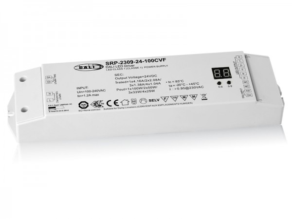 DALI-2 Certified 100W Dimmable LED Driver SRP-2309-24-100CVF