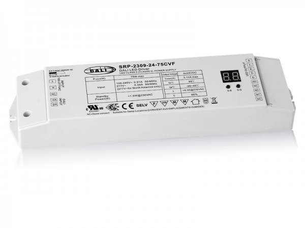 DALI-2 Certified 75W Dimmable LED Driver SRP-2309-24-75CVF