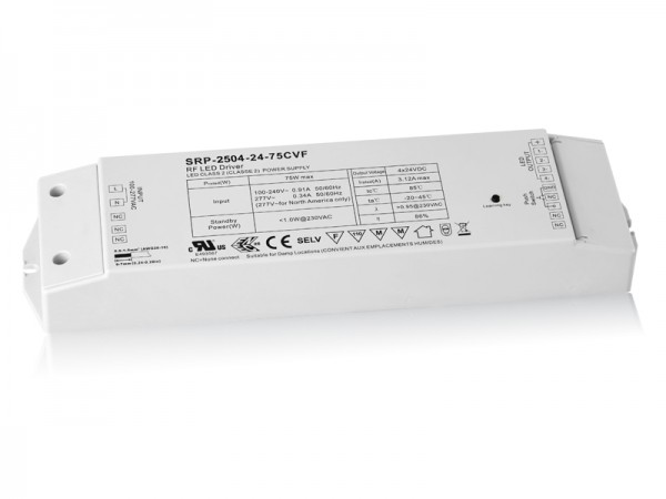 75W Constant Voltage Easy RF LED Dimmable Driver for RGBW LED SRP-2504-75W-CVF