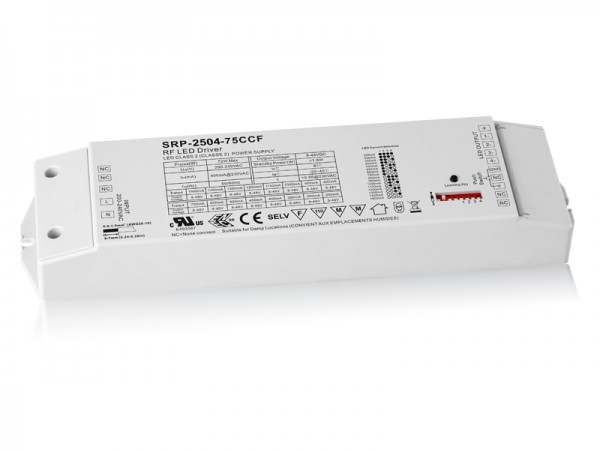 75W Constant Current Easy RF LED Dimmable Driver For RGBW SRP-2504-75W-CCF